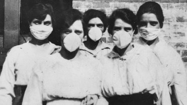 Masks were made compulsory during the Spanish flu outbreak in Australia in 1918-19.