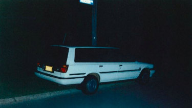 A second photo taken of the Toyota Camry the state alleges Mr Edwards used around the same time of the Claremont murders. This photo was taken by the owner the day before he sold it in 1997.
