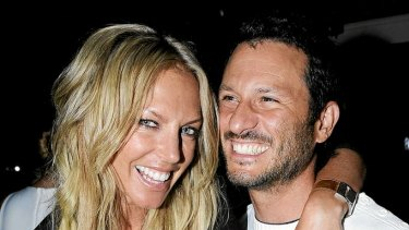 Annalise Braakensiek with her ex-husband Danny Goldberg.
