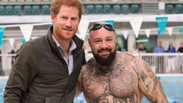 Tyrone Gawthorne, pictured with Prince Harry, has withdrawn from theInvictus Games afterit emerged he was facing drugs and weapons charges.