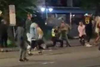 A screenshot from mobile phone footage of the February 24 incident.