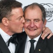 John Fordham, right, with his son Ben. The older Mr Fordham had been diagnosed with throat cancer.