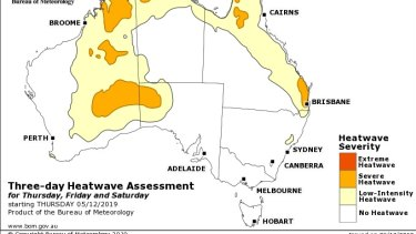 """South-east Queensland is in the midst of a """"severe heatwave"""" expected to last until Saturday."""