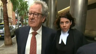 Geoffrey Rush has won his defamation lawsuit over newspaper stories that accused him of inappropriate behaviour.