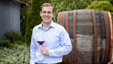 Angus McPherson in happier times at Treasury Wine Estates.