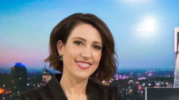 'Are you kidding?' ABC newsreader caught mid coif