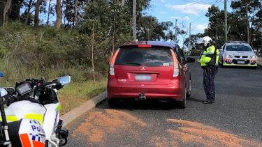 Police speak to another speeding driver in Helena Valley.