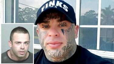(Inset) Troy Fornaciari prior to his facial tattoos.
