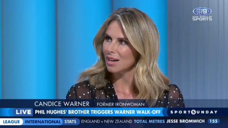 "Going public: David Warner's wife, Candice, described the comments directed at her husband as ""very hurtful""."