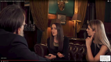Alt-right figures Lauren Southern and Brittany Pettibone interview Russian Eurasianist ideologue Alexander Dugin.