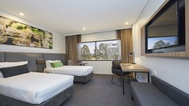 The rooms inside Mercure Hotel at Penrith.