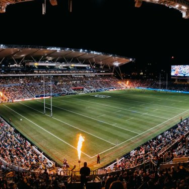 Inside Townsville's new Country Bank Stadium.