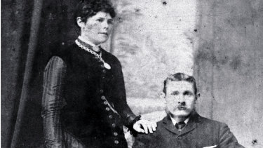 Frederick Deeming and his first wife Marie photographed in Sydney mid 1880s.