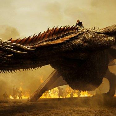 Drogon lets loose on the battlefield in Spoils of War, season 7 episode 4.