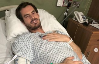 Andy Murray after his hip surgery in January.