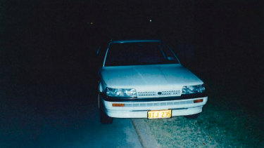 A photo taken of the Toyota Camry the state alleges Mr Edwards used around the same time of the Claremont murders. This photo was taken by the owner the day before he sold it in 1997.