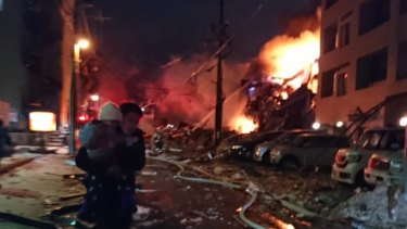 Dozens where hurt in the explosion in Sapporo, Japan.
