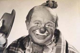 Kubush Horowitz as Sloppo the Clown, GTV 9 publicity photo circa 1959.