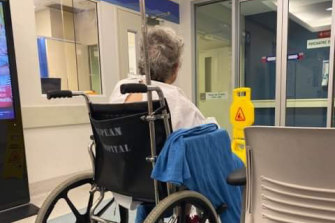 This photo of a woman waiting in pain for hours sparked an outcry.