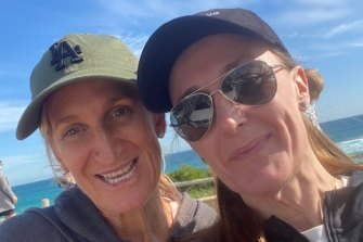 Ms Freeman with friend Rach Chisholm during one of their regular walks pre-COVID.