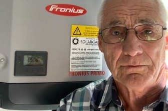 Hervey Bay pensioner Bert Dawson says a proposal to charge solar energy users to sell electricity back to the grid will make solar energy unviable for him and his wife.