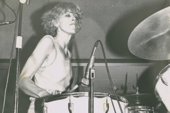 Lindy Morrison plays in 1979 in all-female punk band Zero, in Brisbane's Fortitude Valley.