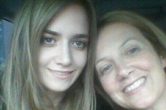 Courtney Herron with her mother  Maxie.