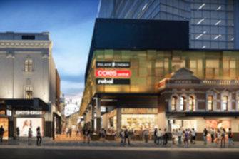 The development will include a cinema complex.