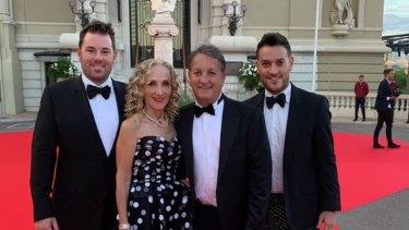 Benjamin Palmer, Linda, David and Joshua Penn attend Cartier Ball in Monaco.
