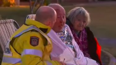 Elderly residents and their adult sons managed to escape the house fire without injury.