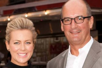 Chemistry? Sunrise co-hosts Samantha Armytage and David Koch .