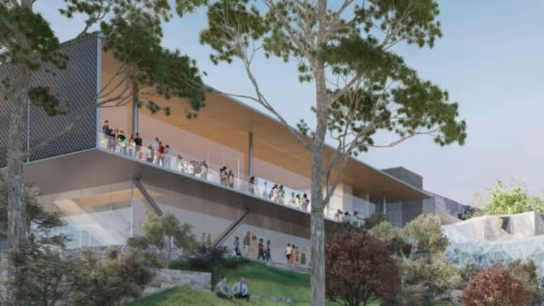 The revised design for the proposed Apple store at Federation Square.