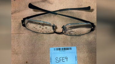 The glasses which were found by police divers.