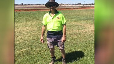 Russell Hanson at the Kalgoorlie-Boulder Racing Club.