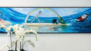 A painting, entitled Lovers in a Boat, valued at $120,000, has been stolen from businessman John Singleton.