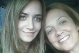 Courtney Herron with her mother, Metaxia or Maxie.