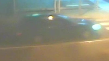 An image of the black Ford Falcon police are searching for.