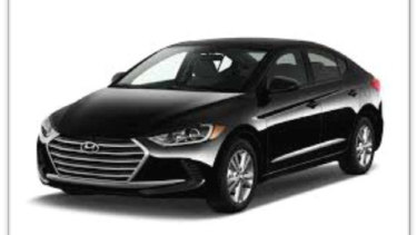 A black Hyundai Elantra sedan with registration ART775 similar to the one stolen by a group of four offenders during a home invasion on August 17 in Tarneit. Picture: Victoria Police.