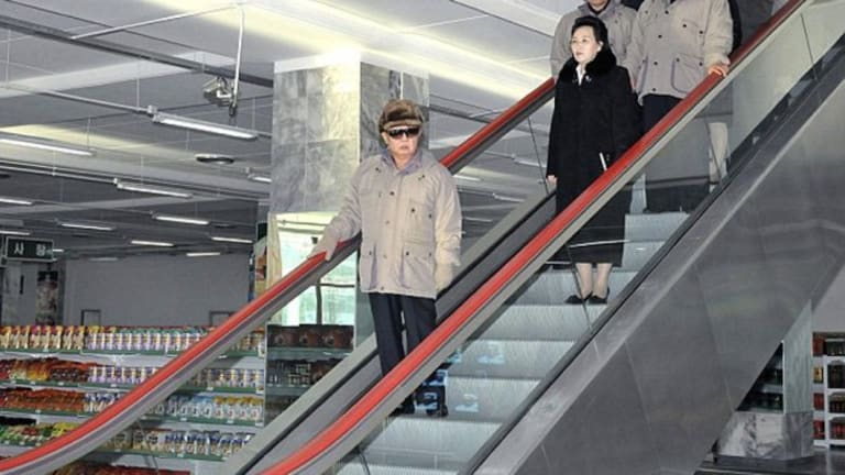 Kim Jong-il at theKwangbok Department Store, Pyongyang, in 2011.