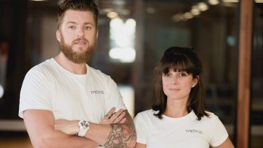 William Amiot and Elodie Desparte-Duperry from tyre recycling company TyreStock.