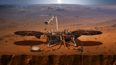 The InSight lander on Mars ... if everything goes according to plan.