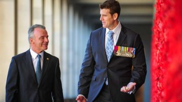 Brendan Nelson and Ben Roberts-Smith, VC MG, at the Australian War Memorial.