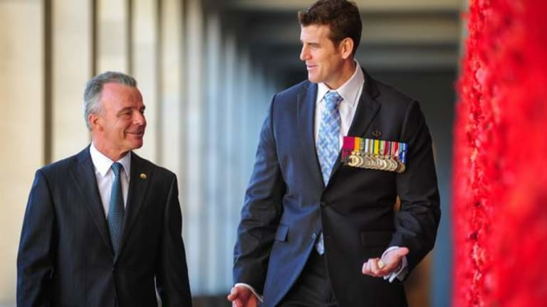 Brendan Nelson and Ben Roberts-Smith, VC MG, at the Australian War Memorial.
