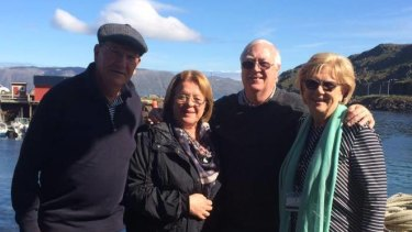 Australians Robert Brown, Lucille Brown, Bill Sutherland and Ann Sutherland are on board the Zaandam and Rotterdam.