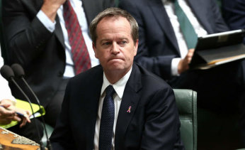 Opposition leader Bill Shorten during Question Time on Monday.