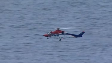 A land and air search is under way for a missing diver.