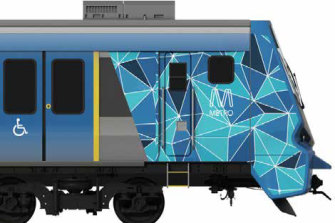 The Age obtained an artist's impression of a preliminary design of the X'Trapolis 2.0 train