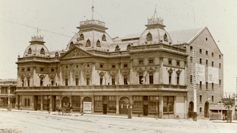 Melbourne's Princess Theatre in 1887, one year after it opened.