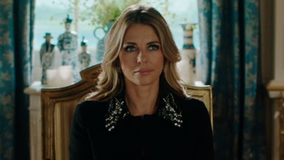 Liz Hurley delivers easy, bingeable entertainment in The Royals