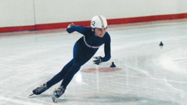 Steven Bradbury won the 1991 Relaying World Championships at Macquarie Ice Rink at just 17 years old.